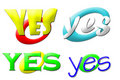 Free Yes Logos Collection Stock Images - 5134134