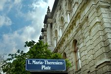 Vienna - Ancient Building On Maria Theresien Platz Royalty Free Stock Images