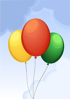Free Balloons In The Sky Royalty Free Stock Photo - 5130335