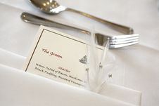 Free The Bridegroom S Place Setting Stock Photos - 5130393
