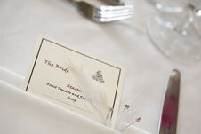 Free The Bride S Place Setting Royalty Free Stock Photography - 5130427