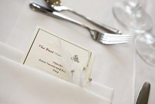 Free The Best Man S Place Setting Stock Image - 5130471
