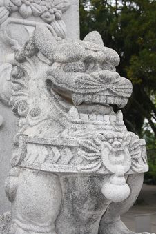 Free Dragon / Lion Statue Stock Photography - 5130822