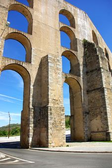 Free Aqueduct  In Old City Of Elvas. Royalty Free Stock Photos - 5131028