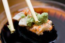 Free Taking Sushi (chicken) Stock Image - 5131531