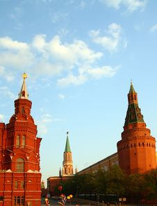 Free Towers Of Kremlin On Red Square Royalty Free Stock Photo - 5131545