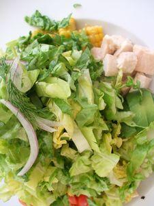 Fresh Side Salad Stock Image