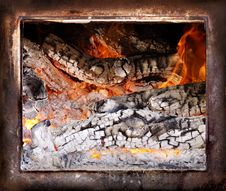Free Fire Burning In Wood Oven Stock Image - 5132901