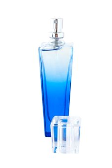 Free Perfume In Deep Blue Scent-bottle. Stock Images - 5133844