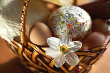 Free Cake In A Basket Stock Image - 5134001