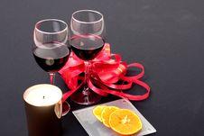 Free Wine And Orange Stock Image - 5134501