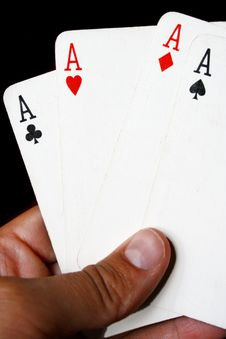 Free Poker Cards Royalty Free Stock Photos - 5134528