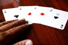 Free Poker Cards Royalty Free Stock Images - 5134539