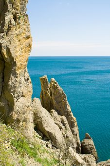 Free Blue Sea And Rocky Mountains - 4 Royalty Free Stock Photos - 5134738