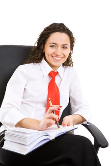 Free Busitesswoman In The Chair Royalty Free Stock Images - 5136349