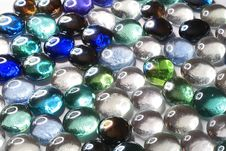 Background From Decorative Glass Stones Royalty Free Stock Image