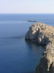Free Lindos Bay In Rhodes Royalty Free Stock Images - 5138099