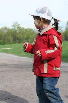 Free Little Girl In The Park Stock Photo - 5138620