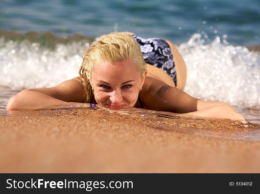 Surf woman