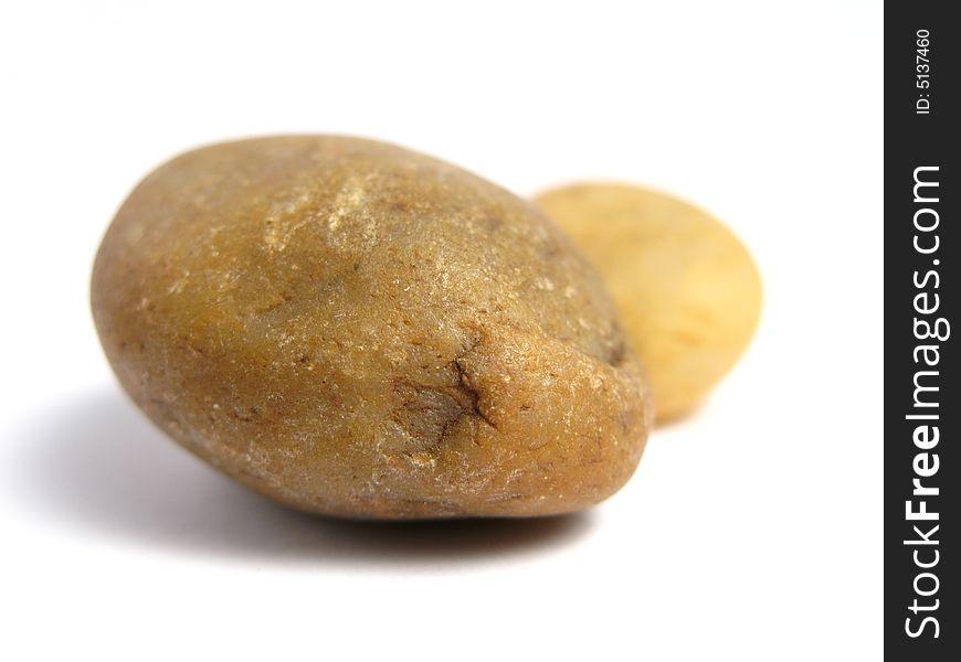 Two yellow stones