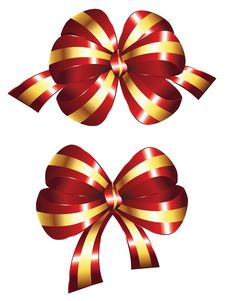 Free Decorative Red Bow Royalty Free Stock Images - 51334829
