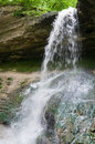 Free Waterfall In The Forest Stock Image - 5140481