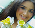 Free Woman With Flowers Royalty Free Stock Photography - 5141247