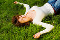 Free Attractive Girl On The Grass Royalty Free Stock Photos - 5142008
