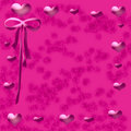 Free Pink Hearts Frame Royalty Free Stock Photos - 5143258