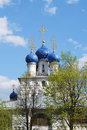 Free White Church With Blue Cupolas Stock Photography - 5147382