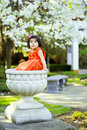 Free Girl In A Flower Pot3 Stock Images - 5148534