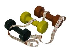 Free Hand Weights Royalty Free Stock Photo - 5140135