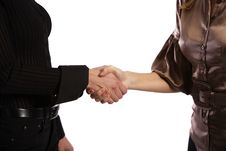 Free Two Girls Shaking Hands Stock Photography - 5140172
