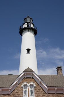 Free Lighthouse Over Roof Stock Image - 5140701