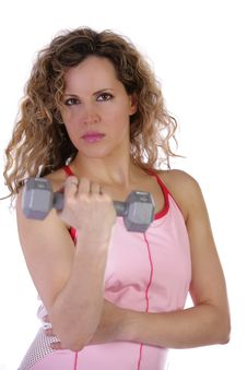 Free Fitness Workout Girl With Weight Royalty Free Stock Photo - 5140765