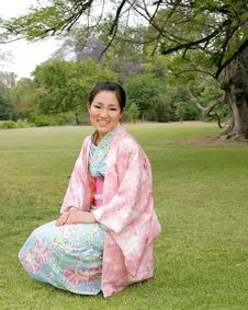 Free Asian Girl In A Komona Stock Photo - 5140780