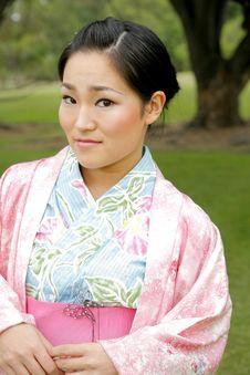 Free Asian Girl In A Komona Royalty Free Stock Image - 5140786