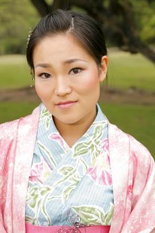 Free Asian Girl In A Komona Royalty Free Stock Images - 5140789
