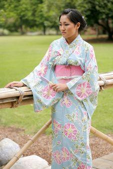 Free Asian Girl In A Komona Stock Image - 5140881