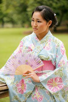 Free Asian Girl In A Komona Royalty Free Stock Image - 5140886