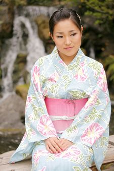 Free Asian Girl In A Komona Stock Images - 5140894
