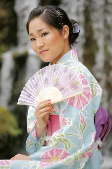 Free Asian Girl In A Komona Royalty Free Stock Image - 5140916