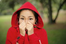 Free Scared Little Red Riding Hood Royalty Free Stock Images - 5140949