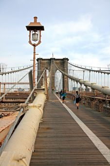 Free The Famous Brooklyn Bridge Royalty Free Stock Photography - 5140997