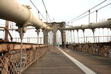 Free The Famous Brooklyn Bridge Stock Photography - 5141002