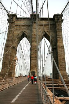 Free The Famous Brooklyn Bridge Royalty Free Stock Photography - 5141007
