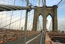 Free The Famous Brooklyn Bridge Royalty Free Stock Image - 5141046