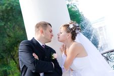 Free Kiss In The Park Royalty Free Stock Image - 5142066