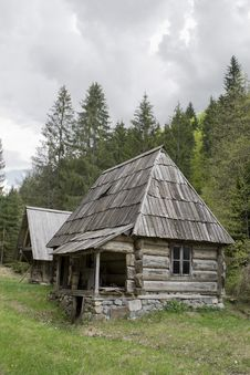 Old Log Cabin Stock Image