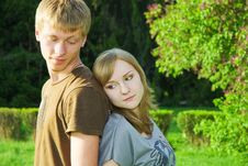Free Couple Of Young Adults Outdoors Royalty Free Stock Photo - 5142535